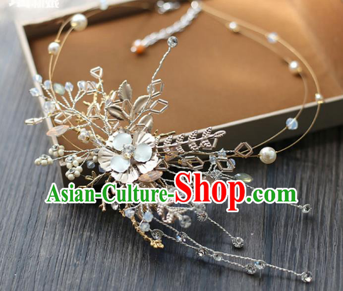 Chinese Traditional Bride Hair Accessories Baroque Wedding Pearls Hair Clasp for Women