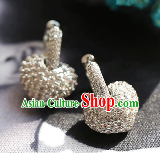 Chinese Traditional Bride Jewelry Accessories Crystal Earrings Wedding Eardrop for Women