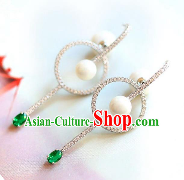 Chinese Traditional Bride Jewelry Accessories Pearls Earrings Wedding Eardrop for Women