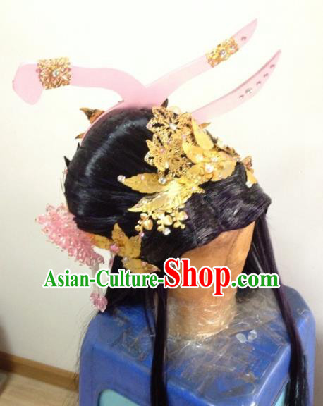 Chinese Traditional Ancient Fairy Princess Hair Accessories Handmade Hairpins Complete Set for Women