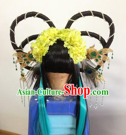 Chinese Traditional Ancient Fairy Princess Hair Accessories Handmade Tassel Hairpins Complete Set for Women