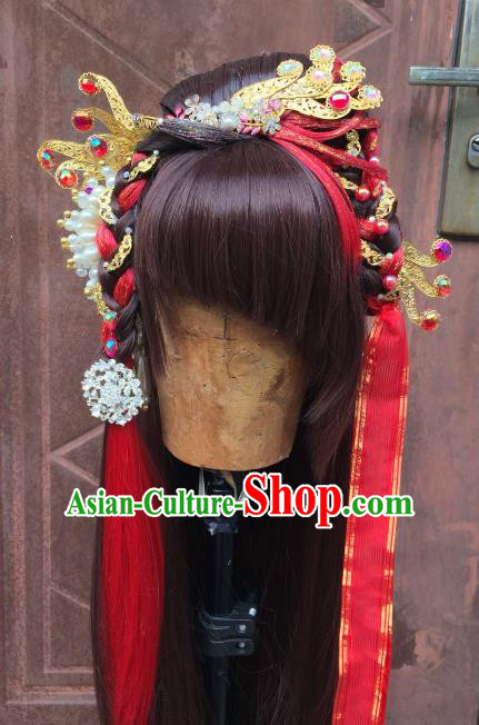 Chinese Traditional Ancient Princess Hair Accessories Handmade Palace Hairpins Hair Stick for Women
