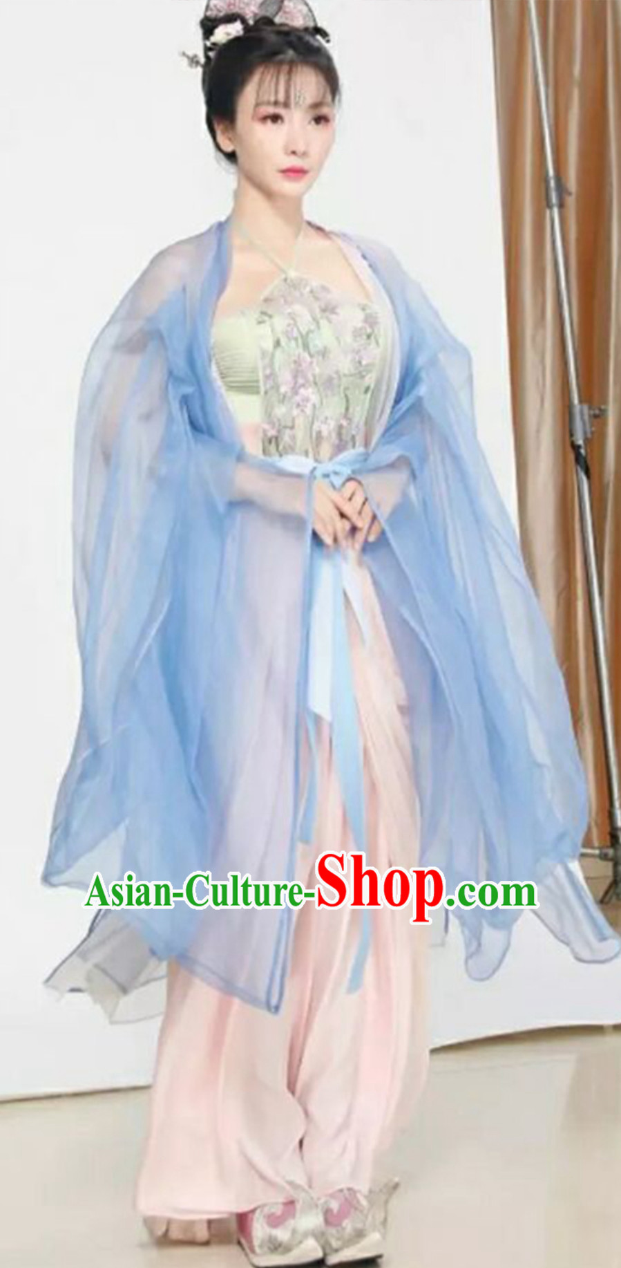 Ancient Chinese Beauty Hanfu Maid Clothing Costume