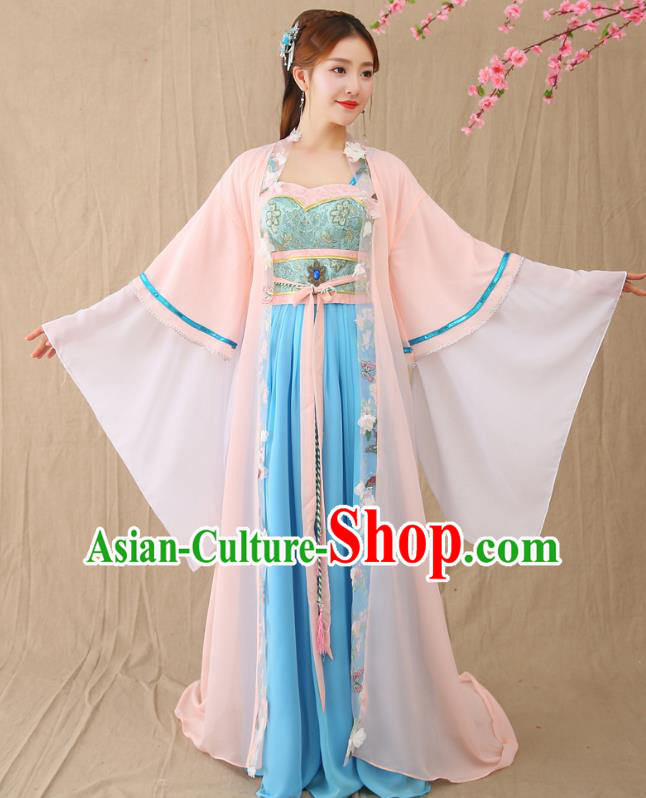 Traditional Chinese Tang Dynasty Imperial Princess Costume, China Ancient Palace Lady Hanfu Clothing for Women