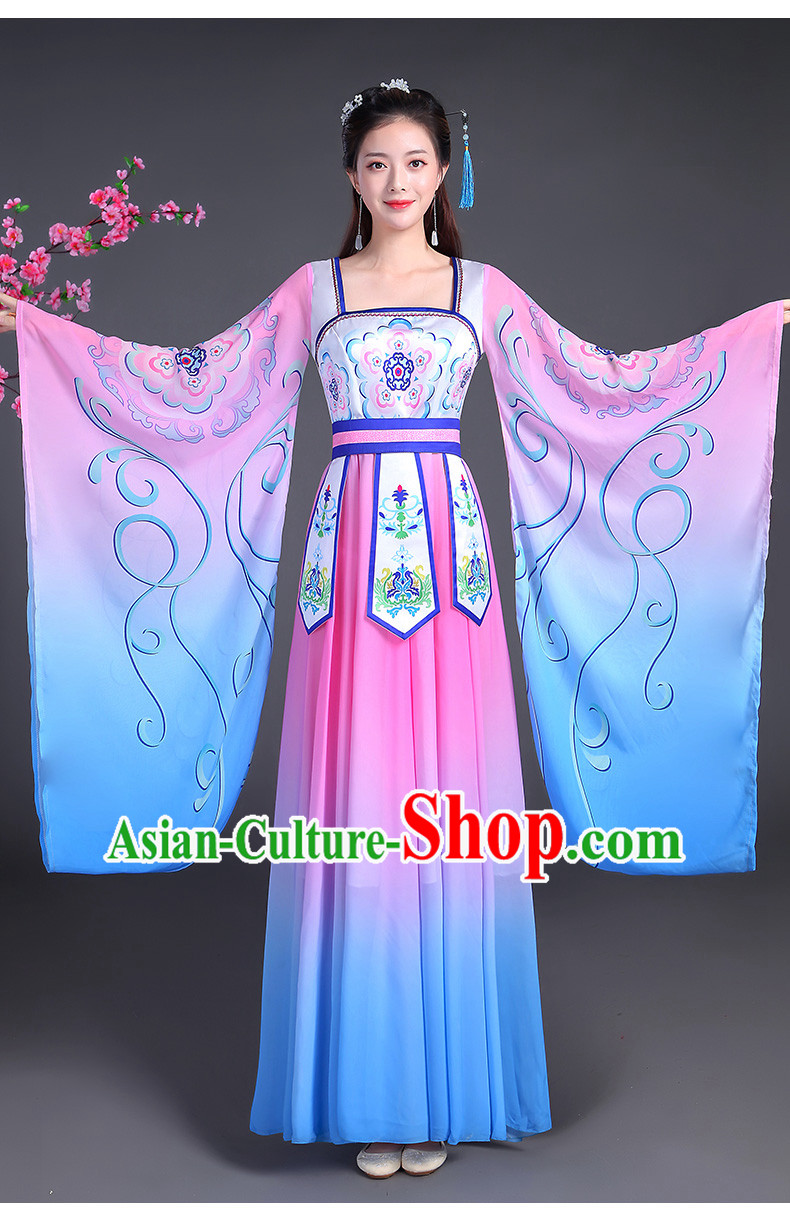 Tang Dynasty Palace Dancer Beauty Maid Wide Sleeve Dance Costume