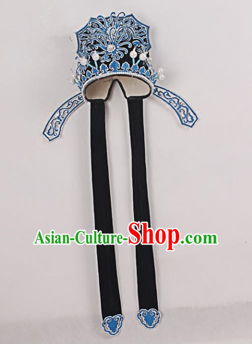 Asian Chinese Beijing Opera Niche Hats, Traditional China Peking Opera Scholar Headwear