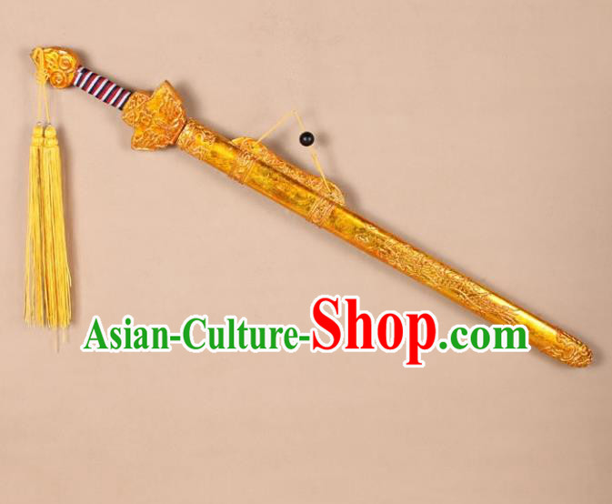 Asian Chinese Beijing Opera Sword, Traditional China Peking Opera Emperor Sword