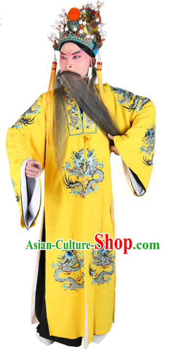Chinese Beijing Opera Royal Highness Costume Embroidered Robe, China Peking Opera Prime Minister Embroidery Gwanbok Clothing