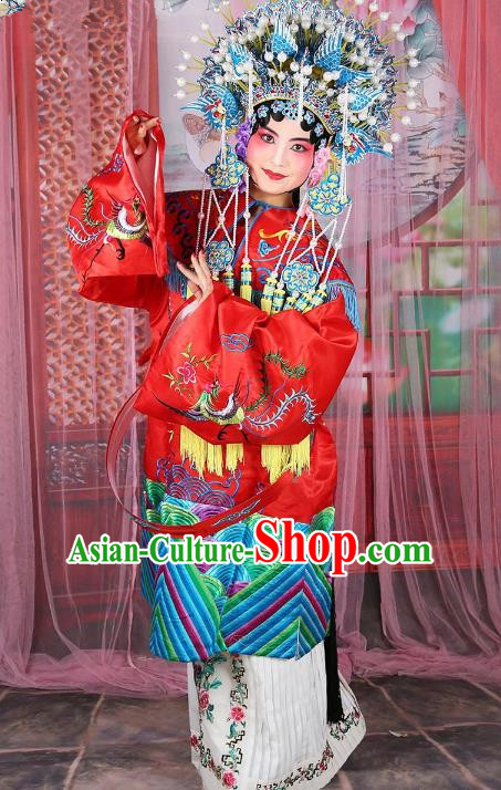 Chinese Beijing Opera Actress Imperial Concubine Embroidered Costume, China Peking Opera Young Lady Embroidery Clothing