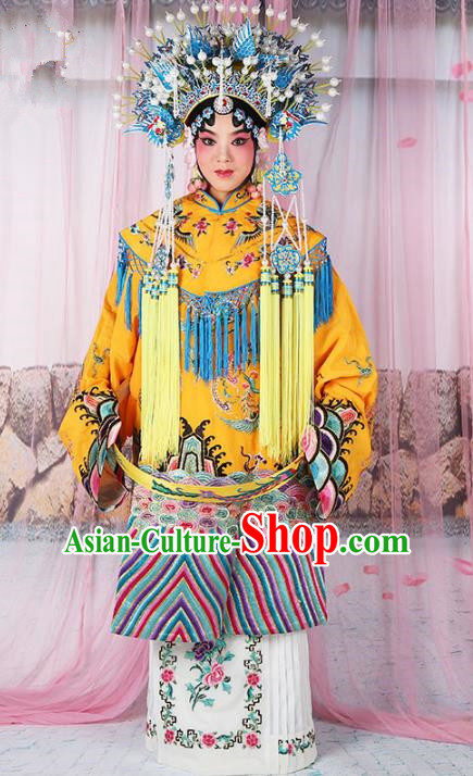 Chinese Beijing Opera Actress Imperial Empress Costume Embroidered Robe, China Peking Opera Diva Queen Clothing