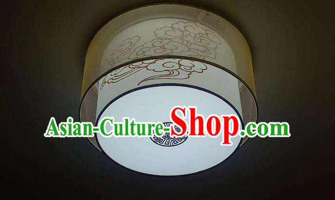Traditional Chinese Handmade Sheepskin Painting Auspicious Clouds Palace Lantern China Ceiling Palace Lamp