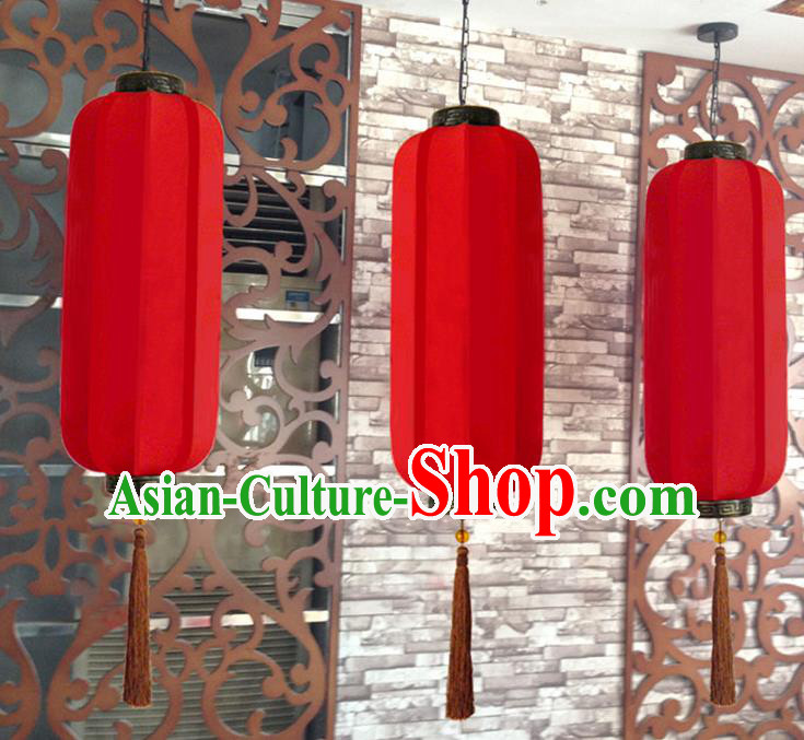 Traditional Chinese Handmade Red Silk Palace Lantern China Ceiling Palace Lamp
