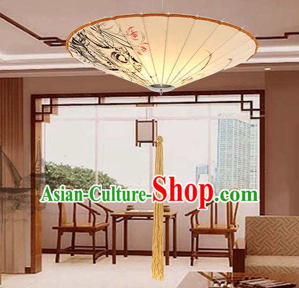 Traditional Chinese Handmade Painting Orchid Palace Lantern China Ceiling Palace Lamp