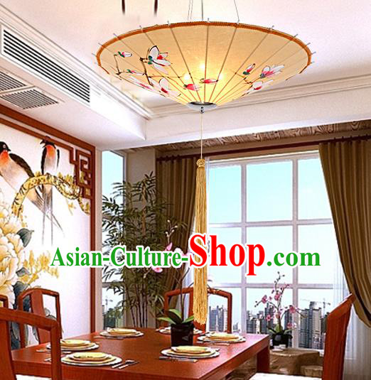 Traditional Chinese Handmade Painting Mangnolia Palace Lantern China Ceiling Palace Lamp