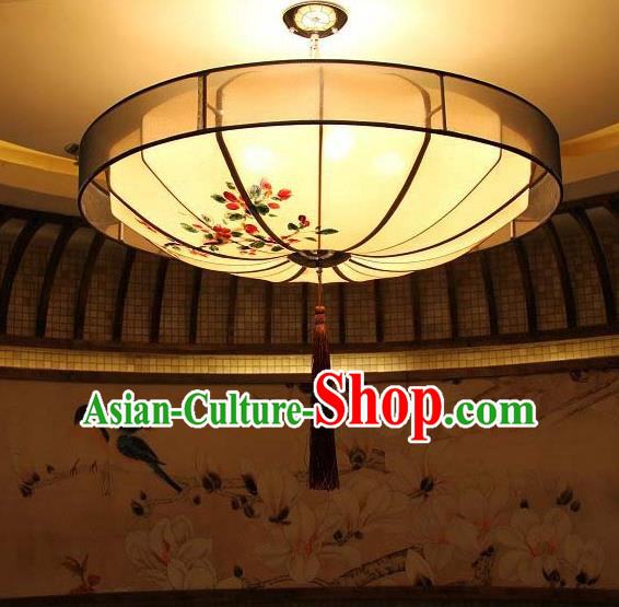 Traditional Chinese Handmade Painting Flowers Palace Lantern China Ceiling Palace Lamp