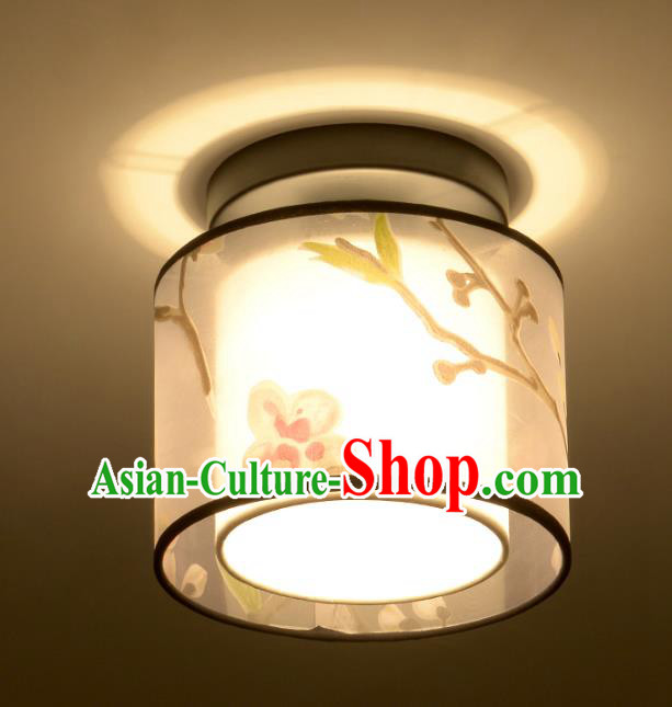Traditional Chinese Handmade Painting Sheepskin Round Palace Lantern China Ceiling Palace Lamp