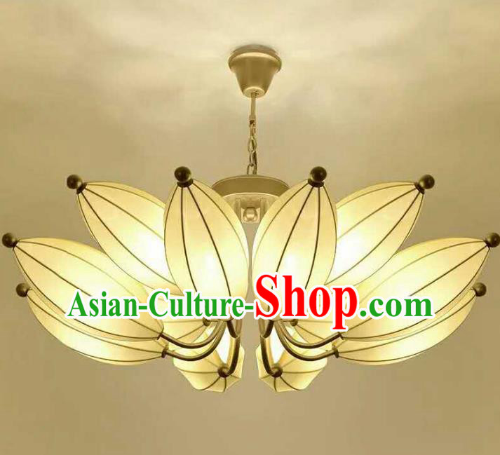Traditional Chinese Handmade Lotus Palace Lantern China Ceiling Palace Lamp
