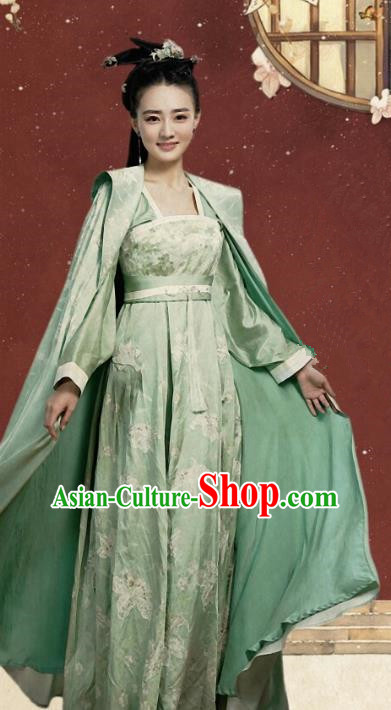 Traditional Ancient Chinese Tang Dynasty Palace Lady Princess Embroidered Costume for Women