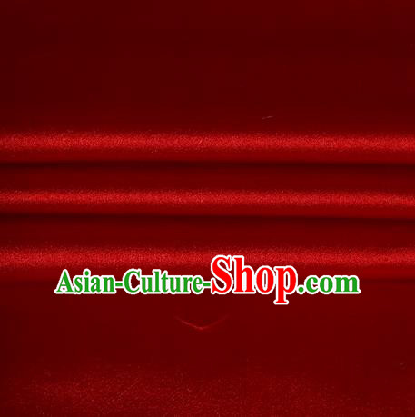 Chinese Traditional Costume Royal Palace Red Satin Brocade Fabric, Chinese Ancient Clothing Drapery Hanfu Cheongsam Material