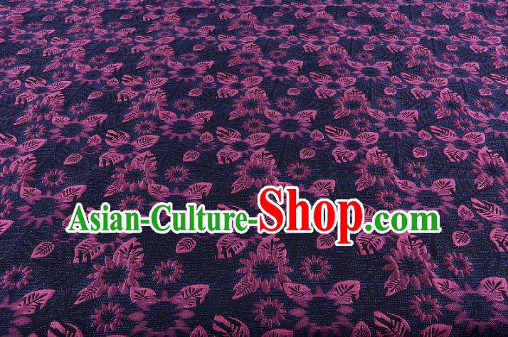 Chinese Traditional Costume Royal Palace Jacquard Weave Purple Fabric, Chinese Ancient Clothing Drapery Hanfu Cheongsam Material