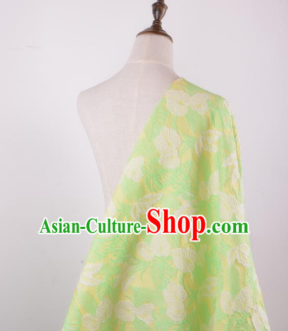 Chinese Traditional Costume Royal Palace Jacquard Weave Green Brocade Fabric, Chinese Ancient Clothing Drapery Hanfu Cheongsam Material