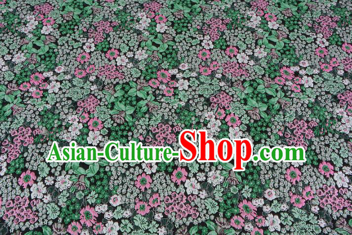 Chinese Traditional Costume Royal Palace Jacquard Weave Green Fabric, Chinese Ancient Clothing Drapery Hanfu Cheongsam Material