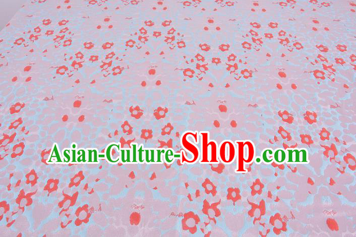 Chinese Traditional Costume Royal Palace Pink Satin Brocade Fabric, Chinese Ancient Clothing Drapery Hanfu Cheongsam Material