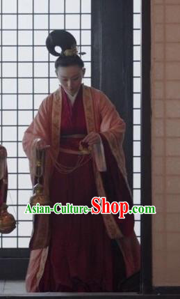 Traditional Chinese Tang Dynasty Palace Lady Maidservant Costume for Women