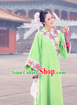 Traditional Ancient Chinese Imperial Consort Costume, Chinese Qing Dynasty Manchu Dress, Cosplay Chinese Mandchous Imperial Princess Embroidered Clothing for Women