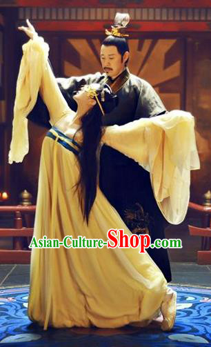 Traditional Ancient Chinese Costume, Costumes Elegant Hanfu Clothing Chinese Tang Dynasty Imperial Emperess Chiffon Dance Clothing for Women