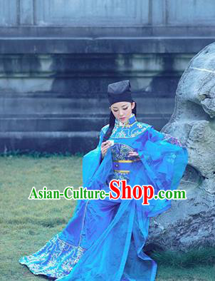Traditional Ancient Chinese Yueju Opera Niche Costume, Elegant Hanfu Clothing Chinese Yueju Opera Tang Dynasty Young Male Water Sleeves Clothing for Men