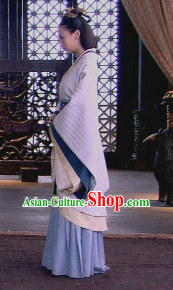 Traditional Ancient Chinese Imperial Consort Costume, Elegant Hanfu Clothing Chinese Han Dynasty Palace Young Lady Clothing for Women