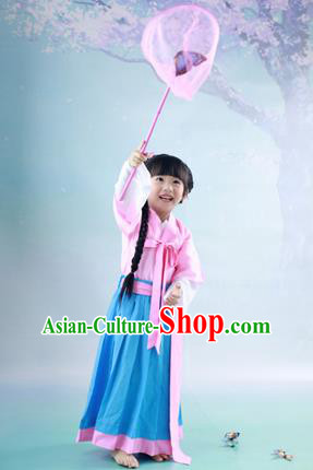Traditional Ancient Chinese Imperial Princess Children Costume, Chinese Tang Dynasty Little Girl Dress, Cosplay Chinese Princess Hanfu Clothing for Kids