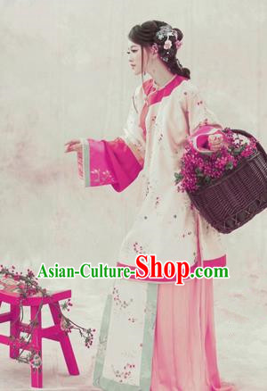 Traditional Ancient Chinese Qing Dynasty Costume, Chinese Republic of China Young Lady Dress Hanfu Clothing for Women