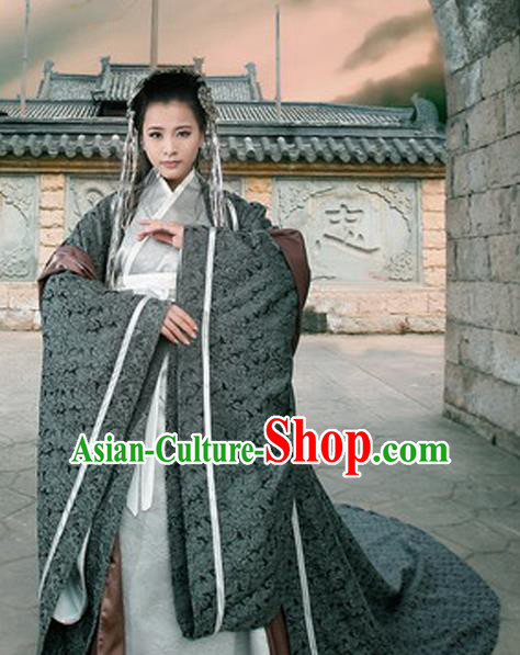 Traditional Ancient Chinese Imperial Empress Costume, Chinese Han Dynasty Queen Dress, Chinese Embroidered Trailing Hanfu Clothing for Women