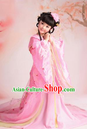 Traditional Ancient Chinese Imperial Princess Children Costume, Chinese Tang Dynasty Fairy Elegant Dress, Cosplay Chinese Princess Hanfu Clothing for Kids