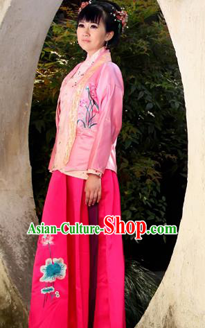Traditional Ancient Chinese Female Costume, Elegant Hanfu Clothing Chinese Ming Dynasty Imperial Emperess Embroidered Clothing for Women