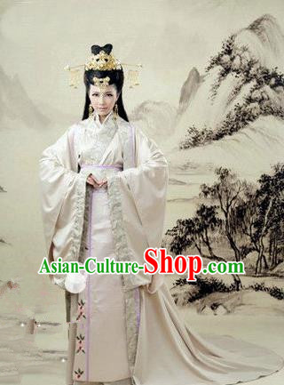 Traditional Ancient Chinese Imperial Consort Costume, Elegant Hanfu Swordsman Clothing Chinese Han Dynasty Imperial Emperess Tailing Embroidered Clothing for Women