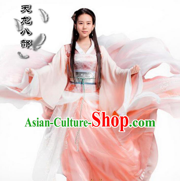 Traditional Ancient Chinese Imperial Consort Costume, Elegant Hanfu Swordsman Clothing Chinese Han Dynasty Imperial Princess Tailing Clothing for Women