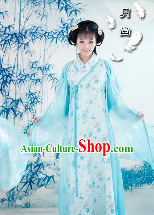 Traditional Ancient Chinese Female Dance Costume, Hanfu Clothing Chinese Song Dynasty Clothing for Women