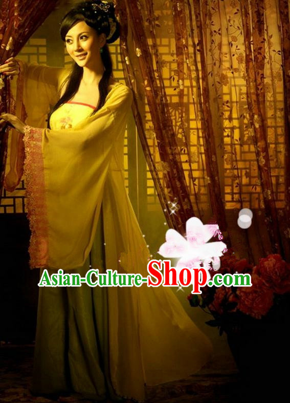 Traditional Ancient Chinese Imperial Consort Costume Set, Elegant Hanfu Fairy Clothing Chinese Tang Dynasty Imperial Queen Tailing Embroidered Clothing for Women