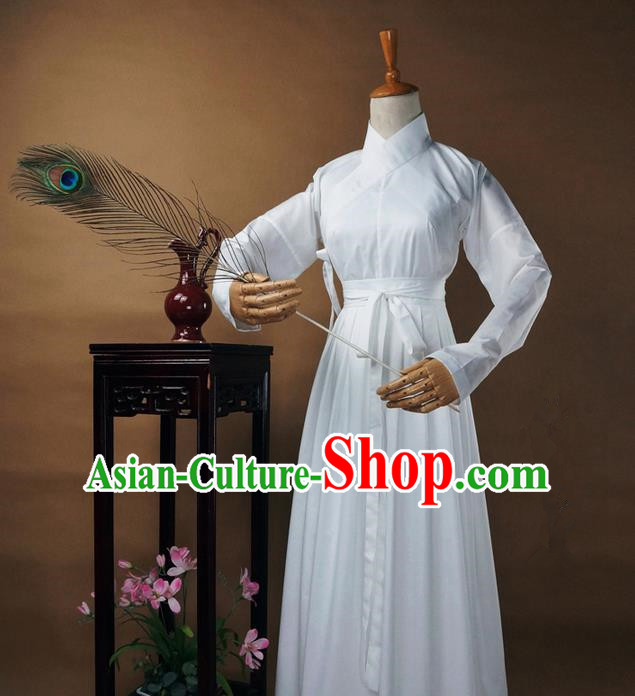 Traditional Ancient Chinese Female Costume Blouse and Dress Underpants Complete Set, Elegant Hanfu Underpants Clothing Chinese Ming Dynasty Palace Lady Clothing for Women