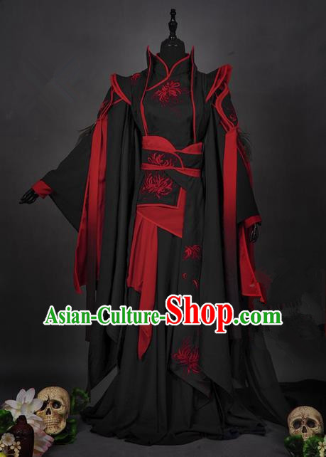 Traditional Asian Chinese Ancient Costume, Elegant Hanfu Dress, Chinese Imperial Prince Tailing Embroidered Clothing, Chinese Cosplay Prince Costumes for Men