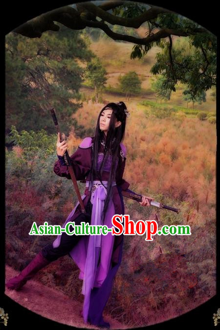 Traditional Asian Chinese Ancient Palace Princess Costume, Elegant Hanfu Swordsman Dress, Chinese Imperial Princess Embroidered Clothing, Chinese Fairy Princess Empress Queen Cosplay Costumes for Women