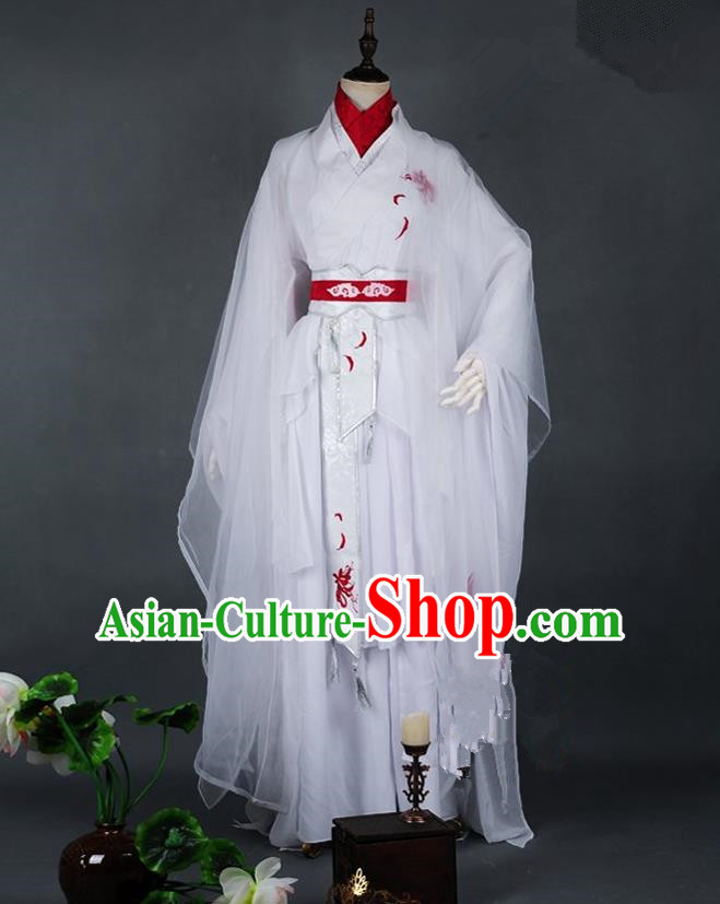 Traditional Asian Chinese Ancient Costume, Elegant Hanfu Dress, Chinese Imperial Prince Embroidered Clothing, Chinese Cosplay Prince Costumes for Men