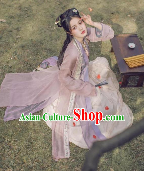Traditional Ancient Chinese Female Costume Blouse and Dress Cappa Complete Set, Elegant Hanfu Clothing Chinese Song Dynasty Palace Princess Embroidered Clothing for Women