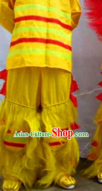 Long Yak Fur Long Wool Lion Dance Pants