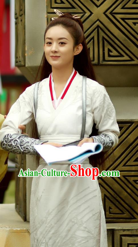 Traditional Ancient Chinese Imperial Bodyguard Costume, Elegant Hanfu Swordswoman Robe, Chinese Swordsman Cosplay Clothing for Women