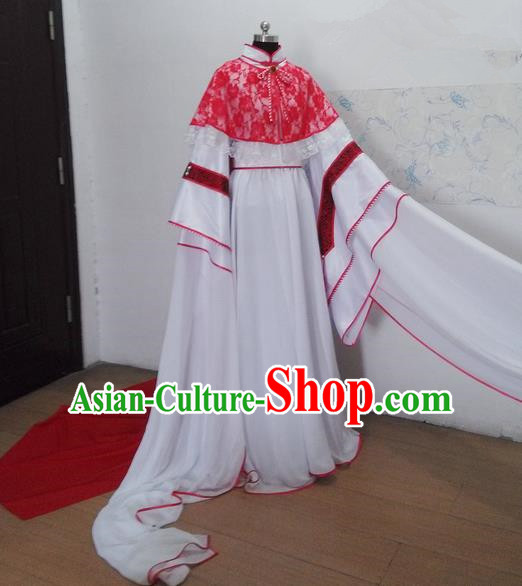 Traditional Ancient Chinese Imperial Consort Costume, Ancient Yang Lady Elegant Hanfu Clothing Chinese Tang Dynasty Imperial Princess Cosplay Fairy Tailing Embroidered Dress for Women