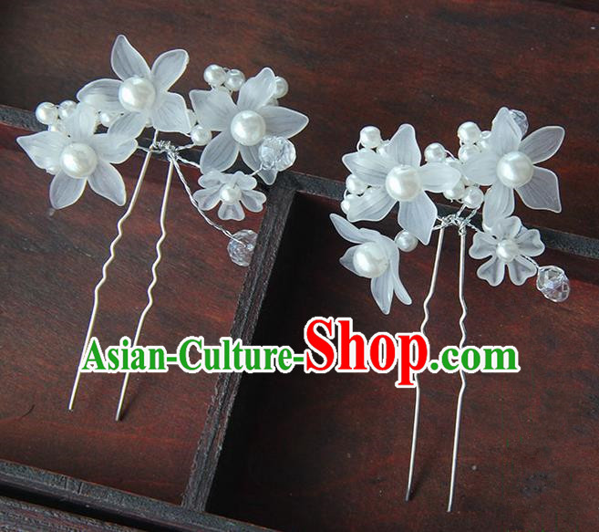 Traditional Handmade Chinese Ancient Princess Classical Accessories Jewellery Pearl Hair Sticks Hair Claws, Hair Fascinators Hairpins for Women